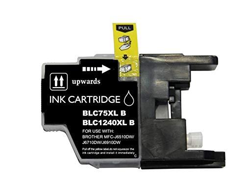 PCMOVILES Cartucho De Tinta Compatible Negro para Impresoras Brother LC1220XL LC1240XL LC1240BK