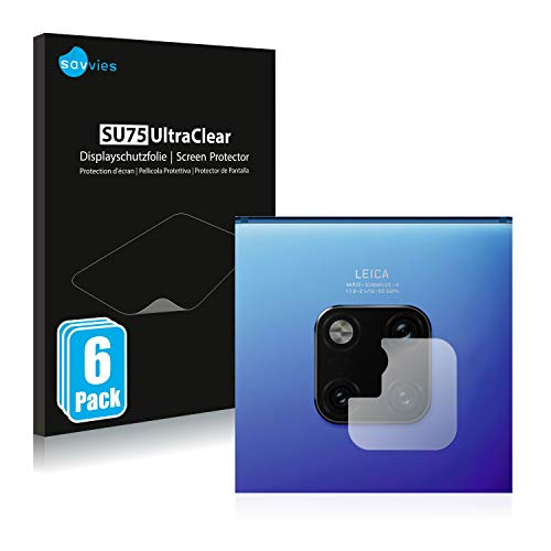savvies 6-Pezzi Pellicola Protettiva Compatibile con Huawei Mate 20 PRO (Solo Camera) Protezione Schermo Trasparente