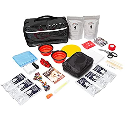 Emergency Zone Dog Survival Kit: Bug Out, Emergency, Travel Kits, First Aid. Prepare Your Dog Vacations, Trips, Hurricanes, Earthquakes, Wildfires Much More by Emergency Zone