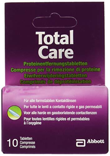 AMO TotalCare Proteinentfernungstabletten für alle harten Kontaktlinsen – Entfernt Proteinablagerungen – Für saubere Linsen – 1 x 10 Tabletten
