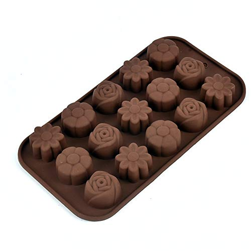 TOPQSC 3D Rose Flower Cake Mold Silicone Soap Mold Baking Ice Tray Mould Fondant Cakes Chocolate Marsepein DIY Cookingcolor Random