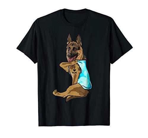 German Shepherd I Love Mom Tattoo T-Shirt