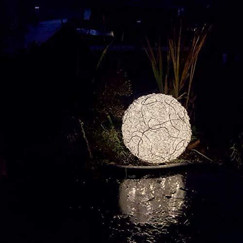Leuchtkugel, Fil de fer, Lichtkugel, Kugellampe, Gartenlampe, Bodenlampe, Entspannungsleuchte, Bodenleuchte