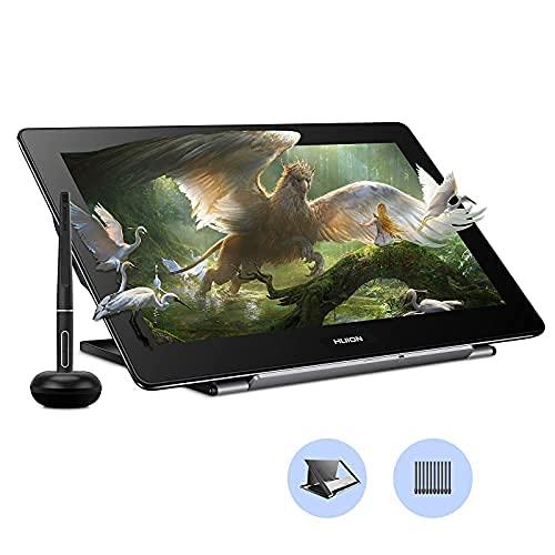 HUION Kamvas Pro 16 4K UHD Tableta Gráfica con Pantalla, Monitor de 15,6 Pulgadas, Antirreflejo Laminado Completo, Función de Inclinación 8192 Lápiz óptico sin Batería PW517 para PC, Mac, Android