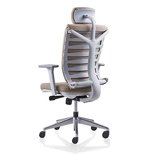 HUAHUA Sedia da ufficio Alta maglia della parte posteriore scrivania e sedia, sedia ergonomica, sedia lavoro al computer con poggiatesta regolabile / supporto del collo, adatto Compatible with la casa