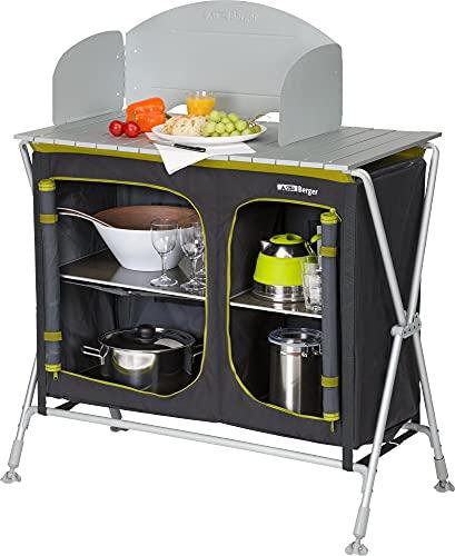 BERGER Küchenbox Pablo 87x85,5x50,5 cm Falstschrank Alu Campingschrank Campingküche Aufbewahrung