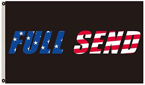 Annfly Full Send US Flag 3x5Ft Nelk Nelkboys for The Boys Black Banner