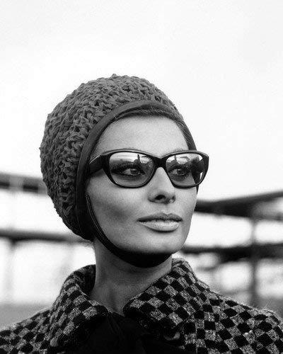 Sophia Loren wearing hat sunglasses 1960's portrait 8x10 Promotional Photograph