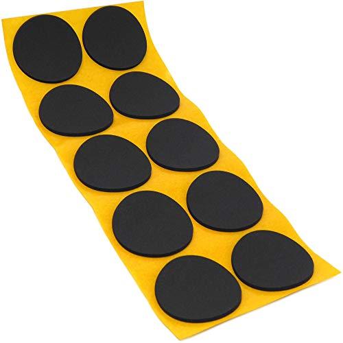 10 x Antirutsch Pads aus EPDM/Zellkautschuk | rund | Ø 45 mm | Schwarz | selbstklebend | Rutschhemmende Pads inTop-Qualität (2.5 mm)