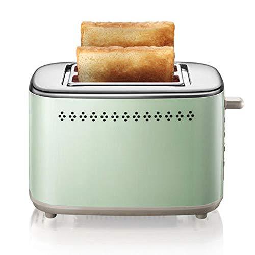 Guoz Tostadora,tostadora de Desayuno multifunción para el hogar,Mini tostadora automática,Cuerpo de Acero,6 Engranajes,Ranura para Tarjeta Interna de Acero Inoxidable,Caja de Migas de Pan extraíble