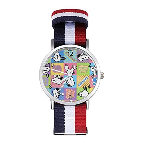Los relojes de Snoopy de dibujos animados son impermeables, versátiles, informales, estudiantes, hombres y mujeres, deportes, moda y temperamento simple anime dibujos animados