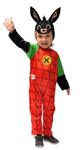Ciao- Bing 11280.2-3 Costume da Coniglio Unisex per Bambini, 2-3 Anni, Rosso Nero, Coniglietto, (Spalle a Terra 78 cm)