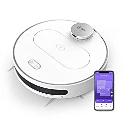360 S6 Robotic Vacuum Cleaner with Wet Mopping Function APP Control, LDS, Intelligent Navigation, 1800Pa Suction Power, HEPA Filter for Animal Hair, Carpets and Hard Floors (White),360