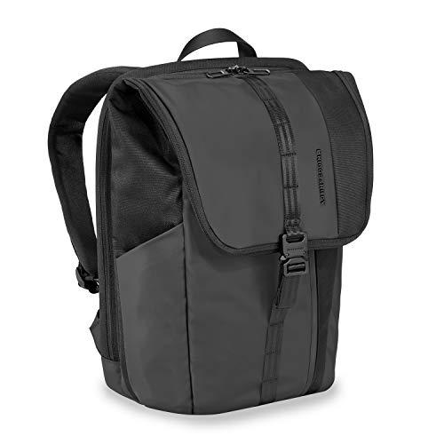 "Briggs & Riley Delve Large Fold-Over Laptop Backpack, Black, 18.5"" x 13"" x 6.5"""