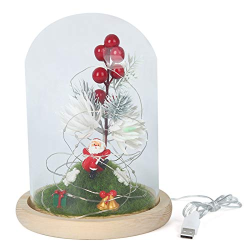 HXXXIN Simple Christmas Decorations, Christmas LED Decoration Lights, LED Office Decoration Glass Cover Ornaments
