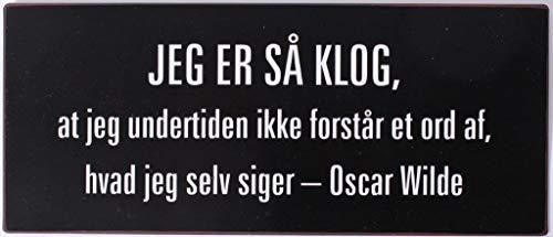 Lafinesse Sign-Jeg er så klog…, zzzz-s, Metal, Painted