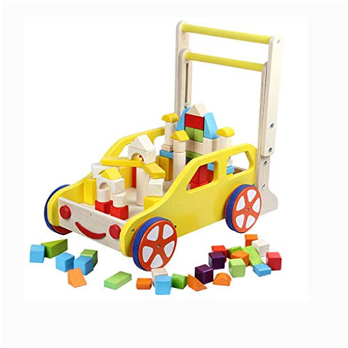 Great Price! NYANGLI Baby Walker,Wooden Boy and Girl Trolley,Adjustable Speed Toy Car and Intelligen...