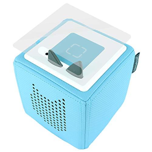 K002 | Schutzcover Schutzfolie für Toniebox selbstklebende passgenaue Folie Motive Zubehör für Kinder Spielzeug Aufkleber Sticker (Nr. 12 Transparent)