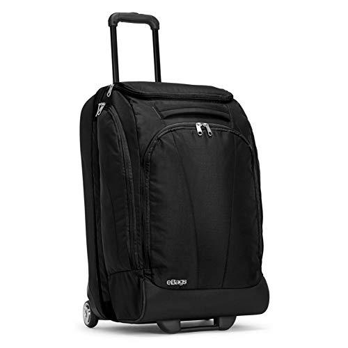 eBags TLS Mother Lode Junior 25 Inch Rolling Duffel Bag Luggage - (Solid Black)