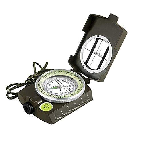 YWT Multi-Functionele Militaire Kompas, Impact en Waterdicht, Afstand Berekening Metaal Aiming Navigatie Kompas Wandelen, Camping, Rijden
