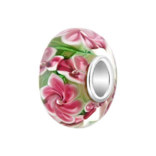 SBI Jewelry Flowers Spacer Charm for Women Girls Gift for Sister Daughter Mum Birthday
