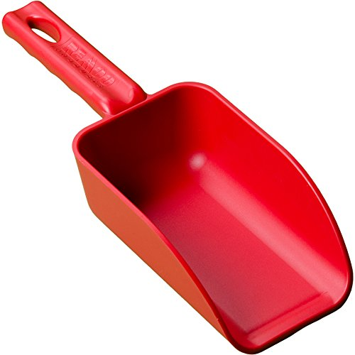 Affordable Remco 63004 Red Polypropylene Injection Molded Color-Coded Bowl Hand Scoop, 16 oz, 1 Piec...