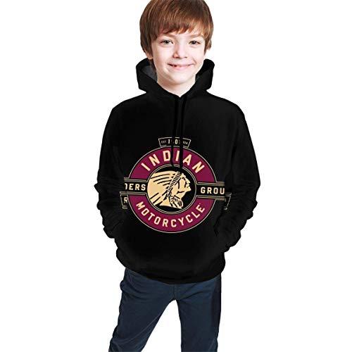 NAjinzhanwen1 Indian Motorcycles Logo Pullover Hooded Sweater Kids Hooded Youth Sweatshirt Pullover Teen Hoodies