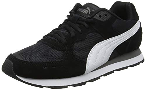 Puma Vista Scarpe Sportive Indoor Unisex - Adulto, Nero (Puma Black-Puma White-Charcoal Gray), 47 EU (12 UK)