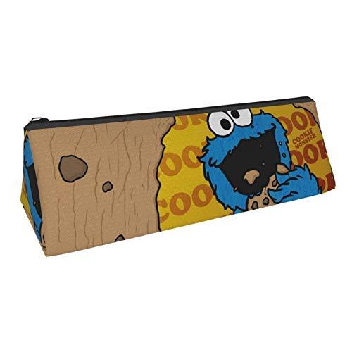 Coo-Kie Monster Dreieck Stifteetui Stifteetui Tragbar Stylisch Kompakt Reißverschluss Taschen Kosmetiktasche