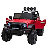 TOBBI 12V Kids Ride On Cars Truck with Remote Control 3 Speeds Toddler Motorized Vehicles Toys for...
