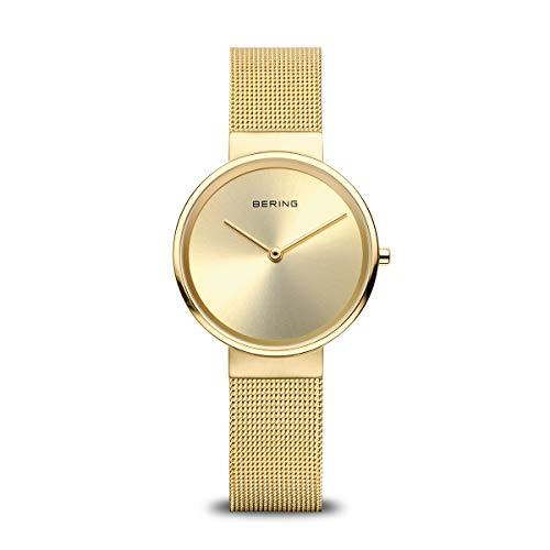 BERING Damen Analog Quarz Classic Collection Armbanduhr mit Edelstahl Armband und Saphirglas 14531-333