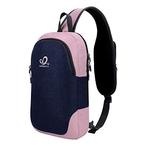 Waterfly Mochila de un solo hombro para hombre y mujer: Sling Bag Casual Deportiva ligera con un solo hombro, para la escuela, el trabajo, el gimnasio, viajes, senderismo