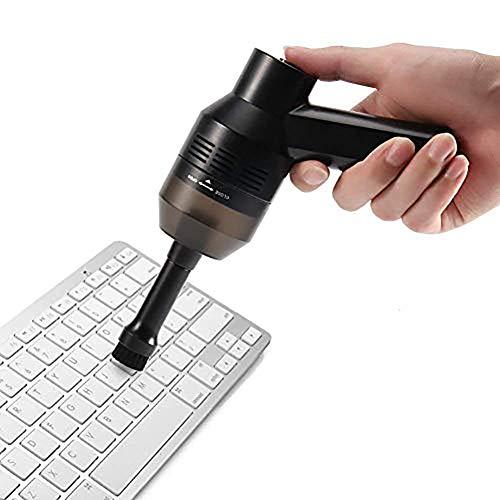 FVAL Aspirador de computadora Limpiador de Teclado, Mini inalámbrico Recargable para Limpiar pelos de Polvo Migajas Retazos Ordenador portátil Piano