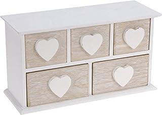 Pequeño joyero de madera con 5 cajones – Madera Coraz