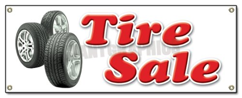 TIRE Sale Banner Sign Shop Used Tires Signs