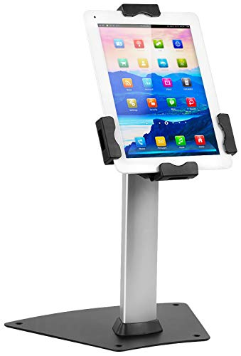 Mount-It! Secure Universal Tablet Kiosk POS - Locking Tablet POS Counter-top Stand Adjustable Clamp for iPad 7, iPad Mini, Samsung Galaxy Tab, Surface Go & 7.9