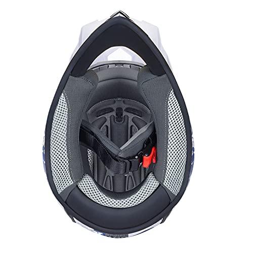 Product Image 5: GLX Unisex-Child GX623 DOT Kids Youth ATV Off-Road Dirt Bike Motocross Helmet Gear Combo Gloves Goggles