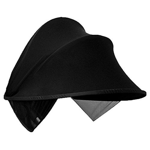Gosear Canopy Universel pour Pare Soleil Poussette Capote pour Cosy Canopy Poussette Noir