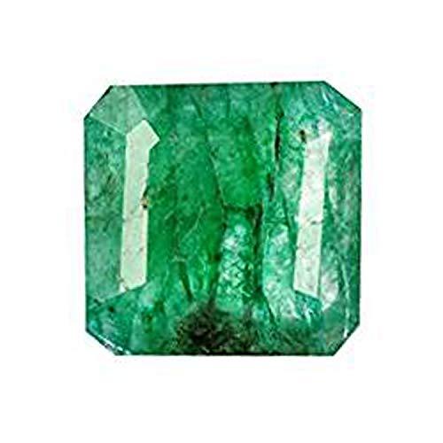 Gemhub 6.30 Karat Natural Green Emerald - Quadratische Form Egl Certified Schmuck Machen Edelstein AO-775