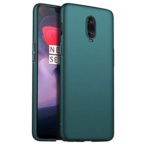 N+A Amosry Compatible con Funda OnePlus 6T, Slim Fit, Anticaída, Resistencia a la fricción, Estuche rígido, para OnePlus 6T (Verde)