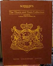 Thurn Und Taxis Collection, The; Silver, Snuff Boxes and Jewels: Geneva; Tuesday 17th November 1992