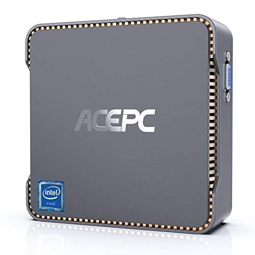 ACEPC AK3 Mini PC con Windows 10 Pro, procesador Intel Celeron N3350, 8 GB de RAM y 128 GB de ROM, computadora de Escritorio, WiFi de Doble Banda 2.4G / 5.0G