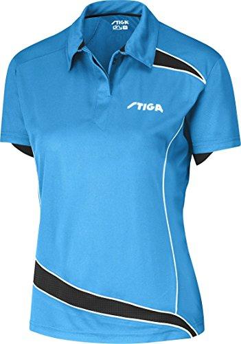 Tenis de Mesa Ropa: Camisa Stiga descubrimientos–Diva Azul/Negro Lady Fit Tamaño XL