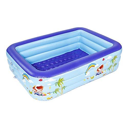 Aheadad Family Inflatable Swimming Pool Center Family Piscina portátil rectangular gruesa y segura hinchable para fiestas de verano