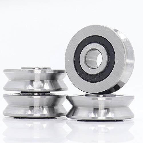 Rodamientos de bolas V10371214 V Roseado de bolas sellado (4pcs) 10 * 37 * 12 * 14 mm Rodamientos de la rueda de la polea V6 / 3 V7 / 3 V8 / 3 Guía de la guía Rodamiento de Rlooer