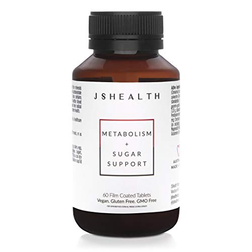 JSHealth Vitamins, Metabolism and Sugar Support Formula, Blood Sugar Balance, Healthy Natural Energy Support, Metabolism Boosting Supplement (60 Capsules)