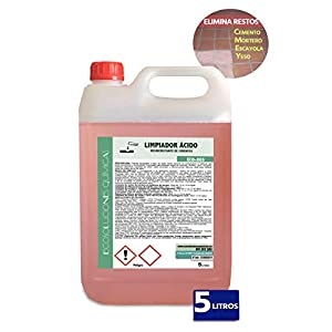 Ecosoluciones Químicas ECO-803   5 Litros   Desincrustante ácido   Limpiador de lechada, cementos, fachadas, mortero, yeso, escayola, etc.