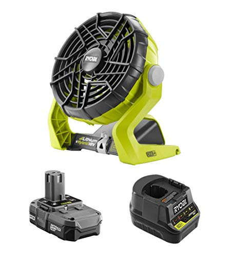 Factory Reconditioned 18-Volt Hybrid Portable Fan Kit with Battery and Charger (Renewed)