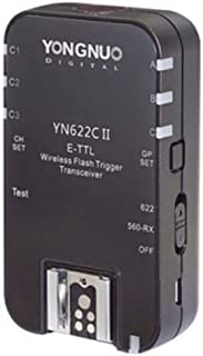 YONGNUO Updated YN622C II Single Transceiver HSS E-TTL Flash Trigger Transmitter Compatible for Canon Camera