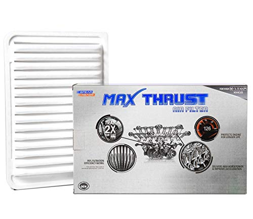 Spearhead Max Thrust Performance Engine Air Filter For All Mileage Vehicles - Increases Power & Improves Acceleration (MT-171)